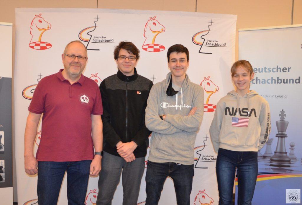 Das SV Mattnetz Berlin-Quartett vor dem Start des DSAM-Vorrunde in Hamburg